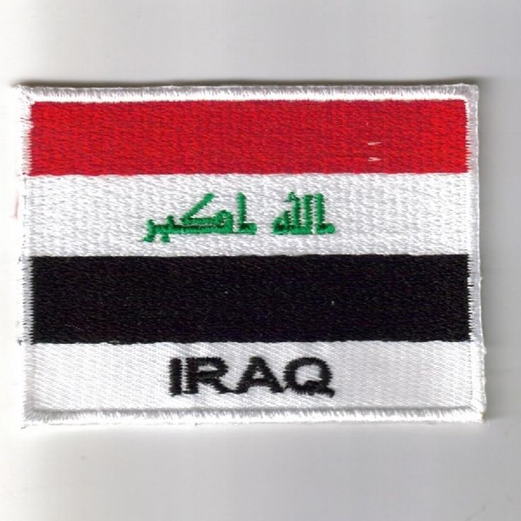 Iraq flag embroidered patches