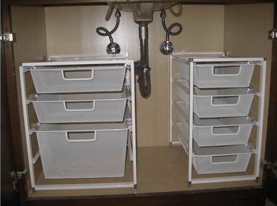under sink storage super smart ways to organize the space under sink under sink organization bathroomstorage ideas - Bathroom Under Sink Storage Ideas
