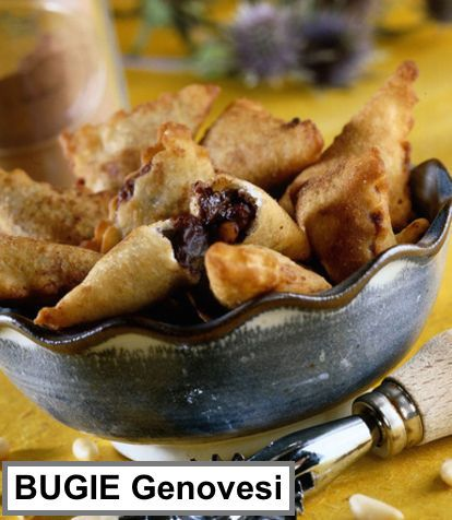 BUGIE GENOVESI Uno fra i tanti dolci tradizionali italiani preparati durante il CARNEVALE