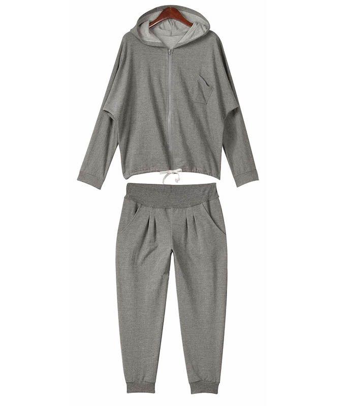 Plus Size Sport Suits 2015 Cotton Jogging Suits For Women 2 Piece Pants Sets Sudadera Mujer Felpe Donna Plus Size Sport Suits