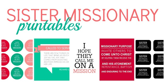 All Things Bright and Beautiful: Sister Missionary Prints.  Would be cute to use for a missionary activity or lesson.
