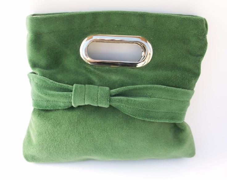 Apple Green Velvet clutch