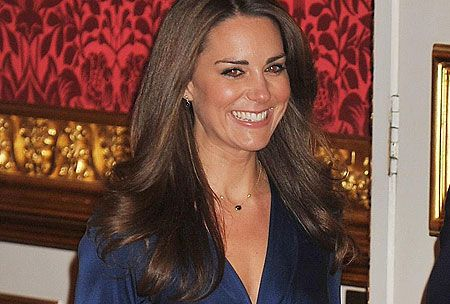 A royal brunette. Global icon Kate Middleton keeps her manicured hair in check
