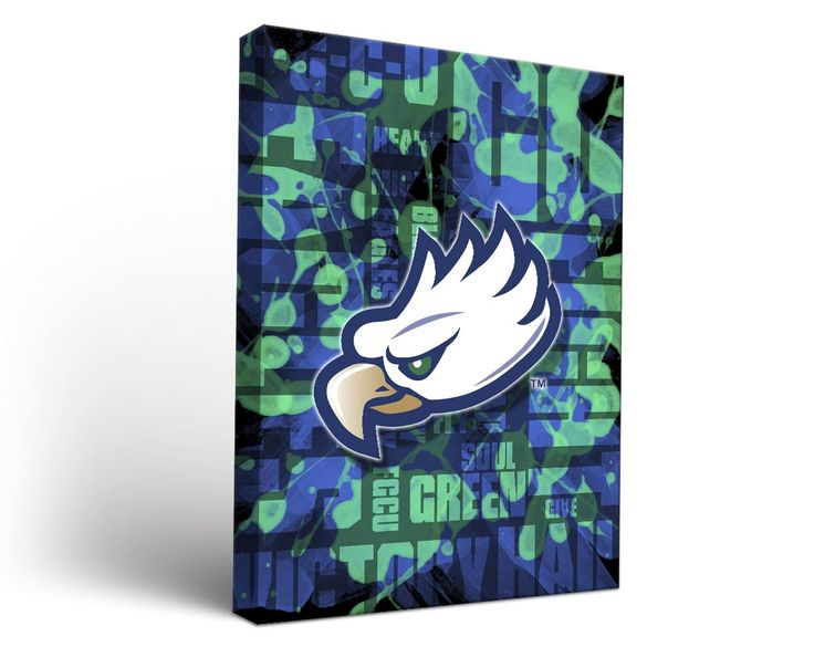 Florida Gulf Coast Eagles Fight Song Art Print on Canvas Rectangle