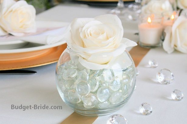 Wedding Reception Flower Ideas.  Flowers available individually at Budget-Bride.com