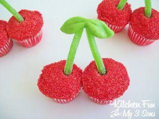 Cherry cupcakes, George washington birthday and Cherries on Pinterest