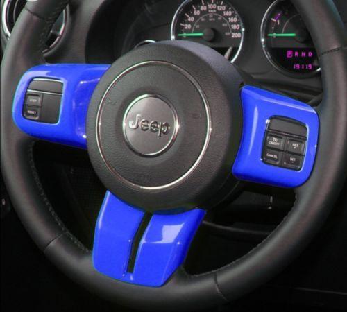 12pcs Blue Interior Car Accessories Decoration Trim For Jeep Wrangler 2011-16 #s