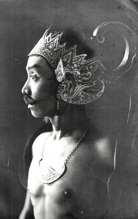 1935 Java Indonesia - Wayang Wong Dancer