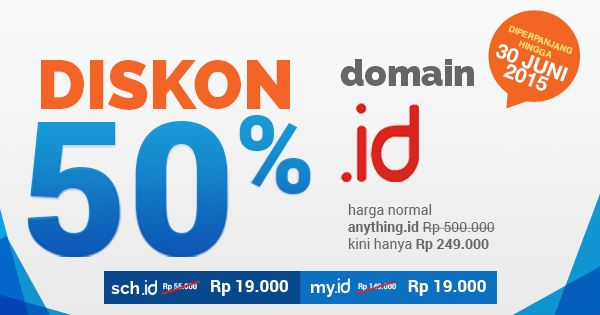 Domain .ID Diskon up to 78%. Hanya Rp. 249.000,-  #Niagahoster #DomainID #DomainMurah
