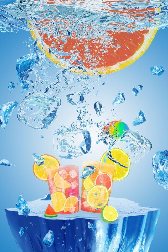 Cool Ice Cube Orange Ice Drink Iced Drinks Ice Cube Summer Ice Cubes