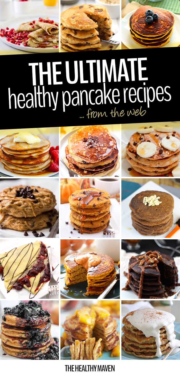 The ultimate healthy pancake recipe round-up so you can have your favorite sweet brunch without a side of guilt. Stack em' high with this delicious round-up!