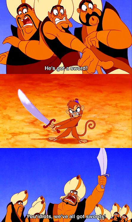 Aladdin! Is it weird I can remember exactly the tone in which these lines are uttered? #disney #90s