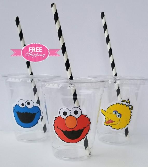 Sesame Street Party Elmo Sesame Street Favors Sesame Street Birthday Set of 24 Sesame Street Stickers Sesame Street Party Cups