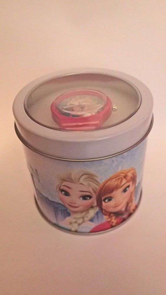 6 job lot Kids party favours girls disney princess/frozen watch gifts in tins