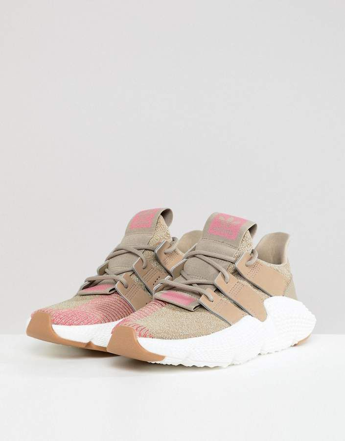 separation shoes ab8f4 07219 adidas Originals Prophere Sneakers In Beige And Pink