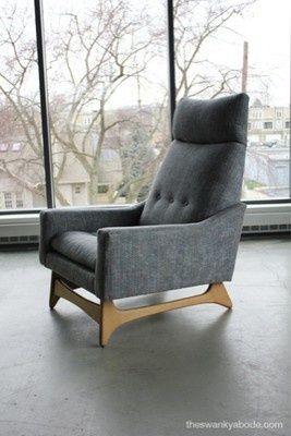 Mid Century Modern Adrian Pearsall Highback Chair