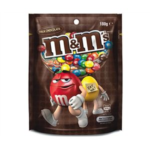 A box of 12 M&Ms Milk Chocolate Bags.