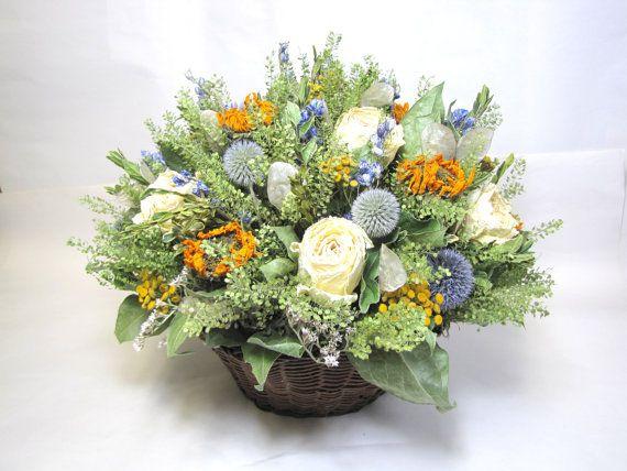 Large Basket Arrangement Using Dried Flowers Fl