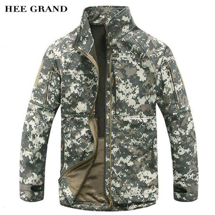 HEE GRAND Men Fleece Jacket Warm Padded Waterproof Windbreak Autumn Winter Overcoat Men's Outwear Plus Size S-XXXL MWJ2250 #Affiliate