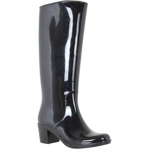 bottes de pluie à talons femme gris Ikg976DQN8