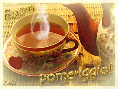 Buon pomeriggio tazzina caffè