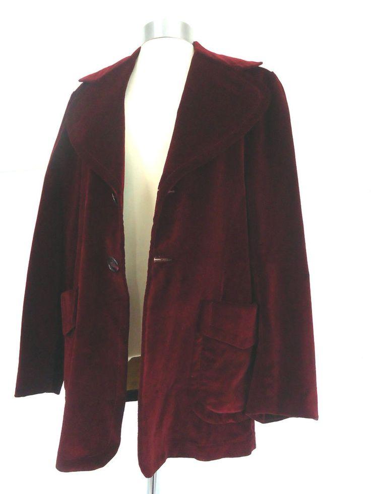Mens vintage burgundy red velvet gents dandy evening dress ...