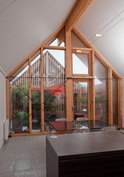 1182 best ouvertures s paration portes fen tres puit de lumi re baie vitr e verri re. Black Bedroom Furniture Sets. Home Design Ideas