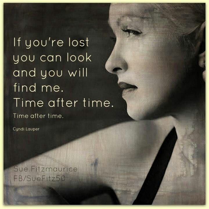 "Cyndi Lauper - Time After Time ❤ FOR MY KIDS                                                                                                                                                                                 More  She does a great job of ""At Last"" from the Bones TV show."