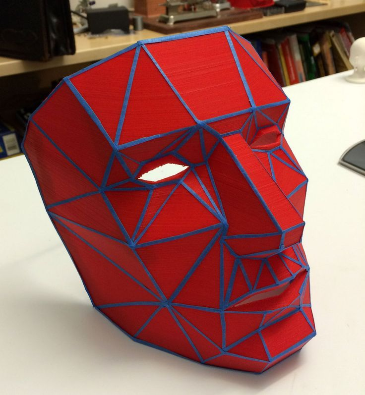 Printable Low Poly Mask by DancePants9000 http://thingiverse.com/thing:86675
