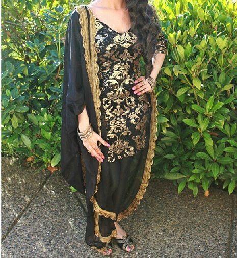 Black and gold suit for query whatsapp +917696747289 https://www.facebook.com/punjabisboutique @nivetas @nivetas