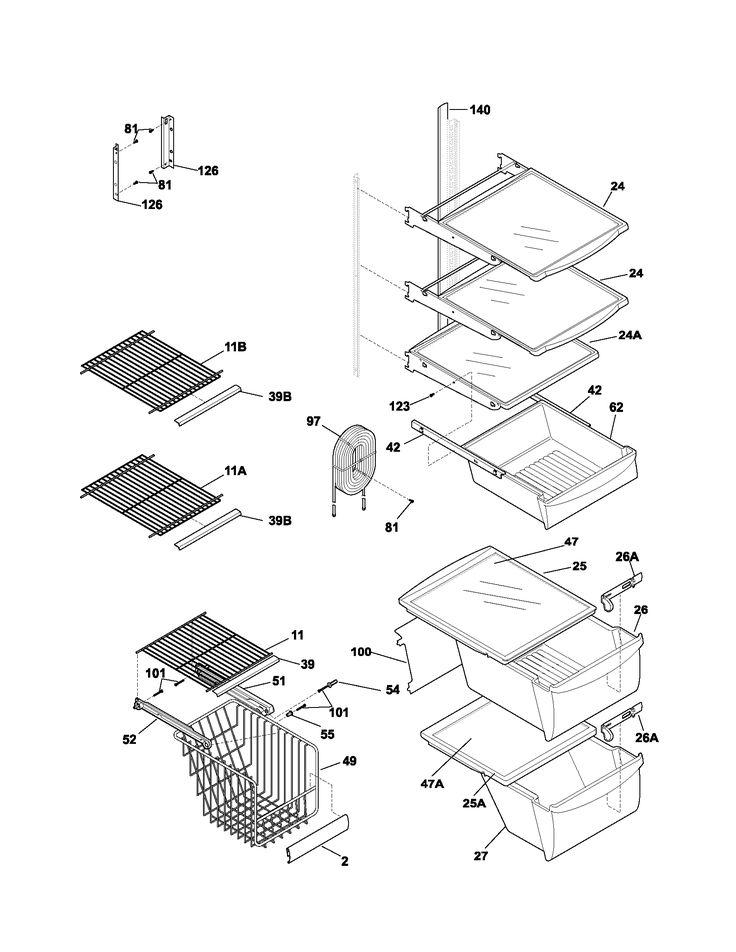 Frigidaire Refrigerator Parts List 1700 x 2200 · 51 kB · png