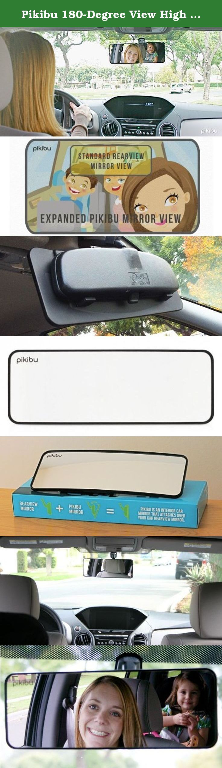 Pikibu 180-Degree View High Definition Clarity Baby Car Mirror, Black. Pikibu is an interior car mirror that attaches over your car rearview mirror. People around the world are stuck in the past, held back by their car rear view mirror. Today, when friends and family are connected by smart phones and fast internet connections, we think it andapos; s silly that most people still look through their old flat rearview mirrors. Our mirror was specifically designed with families in mind. The...