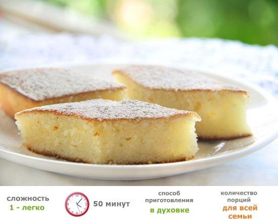 Рецепты для малышей - Творожный кекс