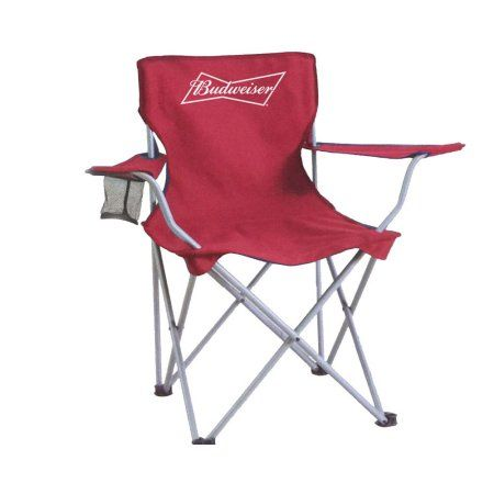 Budweiser Collapsible Tailgate Chair, Red