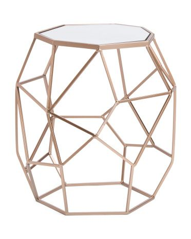Abstract Accent Table With Mirror