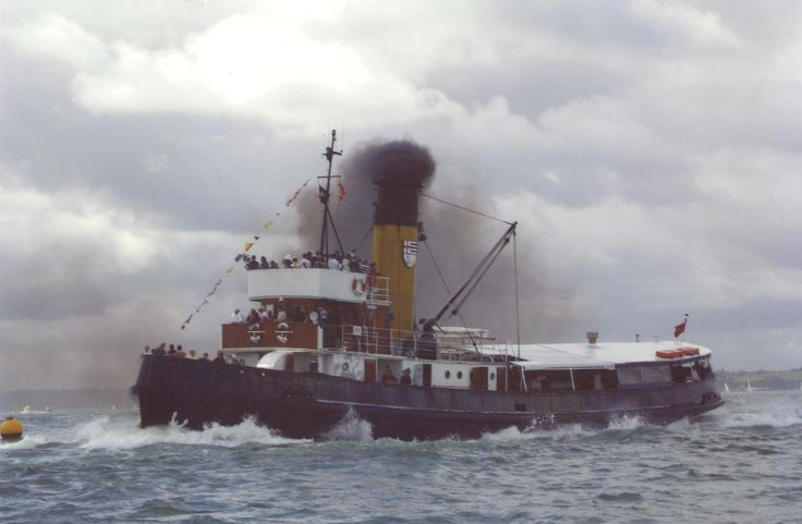 Vintage Steam Tugboats | Steam Tug W C Daldy wins Tug Boat Race at Auckland's 169th ...