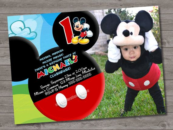 42 best Mateas 3rd bday images – Mickey Mouse 1st Birthday Party Invitations