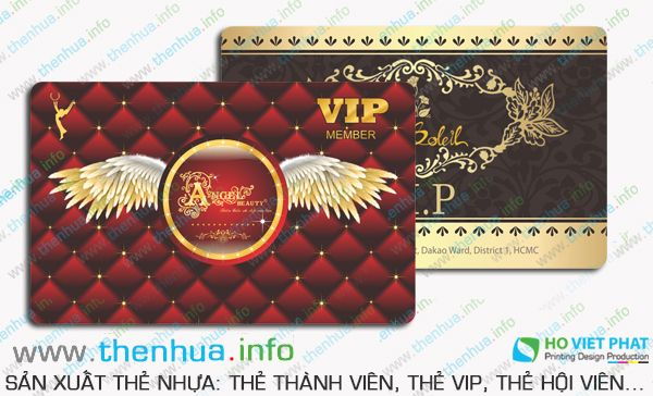 In thẻ VIP Spa cao cấp