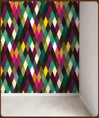 Klein Design Hoorn - Behang - Veel merken behang, Pip, Eijffinger, Studio Ditte, Onzelf, Inke - behang ruitje fel gekleurd