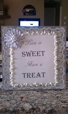 For a wedding candy buffet table or cake table.