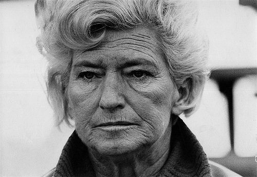 "Florence Owens Thompson, featured in the photo ""Migrant Mother"" by Dorothea Lange (1936). This photo appears to be from the 1960s, based on the hairstyle."