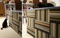 Wall-mounted Carpet Tile DIY Cat Scratcher with FLOR tiles