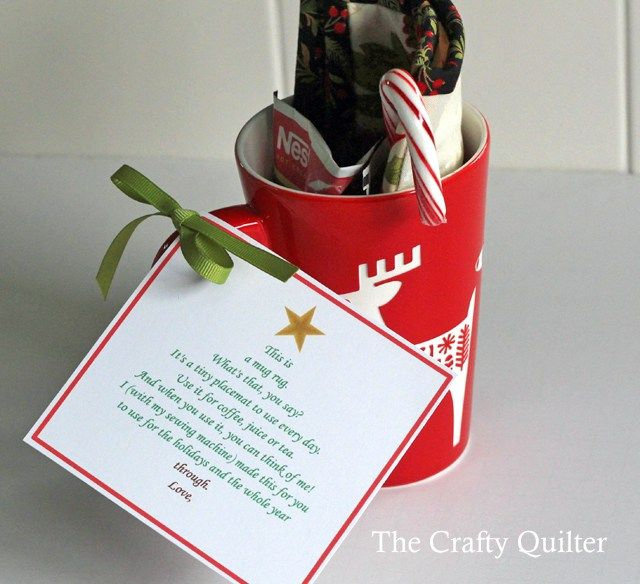 A Mug rug poem and thank you - The Crafty Quilter