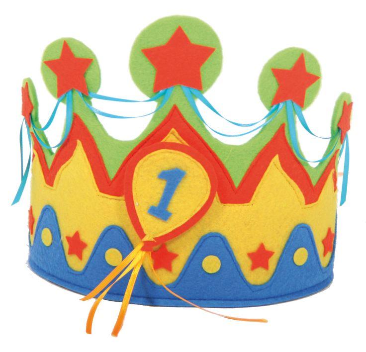 Verjaardag - Verkoop feestartikelen - Kroon stof 1 tot 5 jaar - Producten…