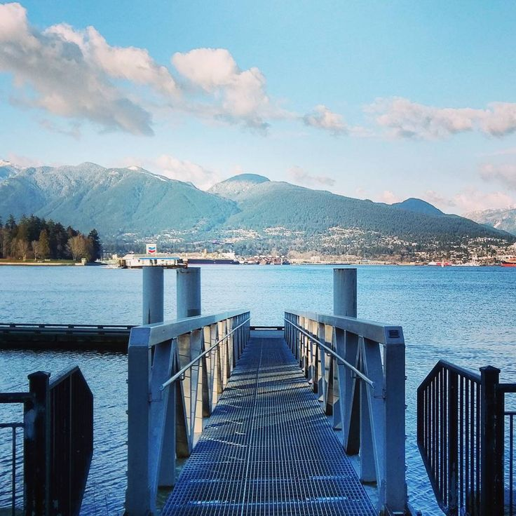 Sea wall #vancity #vancouver #travel #wanderlust #harbour #water #mountains