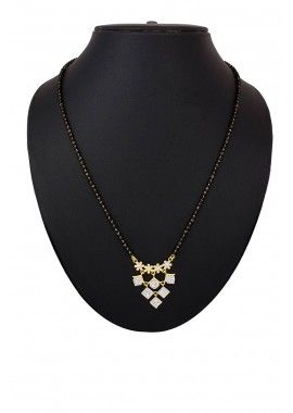 American Diamond & Beads White & Golden Mangalsutra, - £29.00, #Fashion #UK #OnlineJewelry #Shopkund