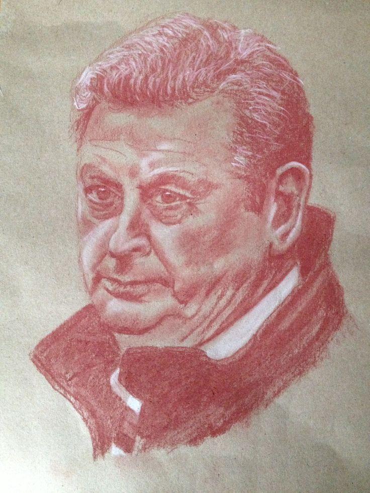 Roy Hodgson - June 2014 - Brazil World Cup!! Pastel pencil.