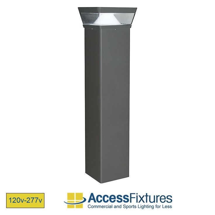 OPPE 26w Square LED Bollard Light with Reflector – Dimmable LED Bollard Light – IP67, CSA Rated, Aluminum Housing available at Access Fixtures, from $330.65.  The OPPE 26w Square LED Bollard Light with Reflector features four 5w chip-on-board LEDs that emit over 2,000 lumens. It is rated for 50,000 hours and comes with a terrific color rendering index of 80+. Sleek and modern design with sturdy, extruded aluminum housing.