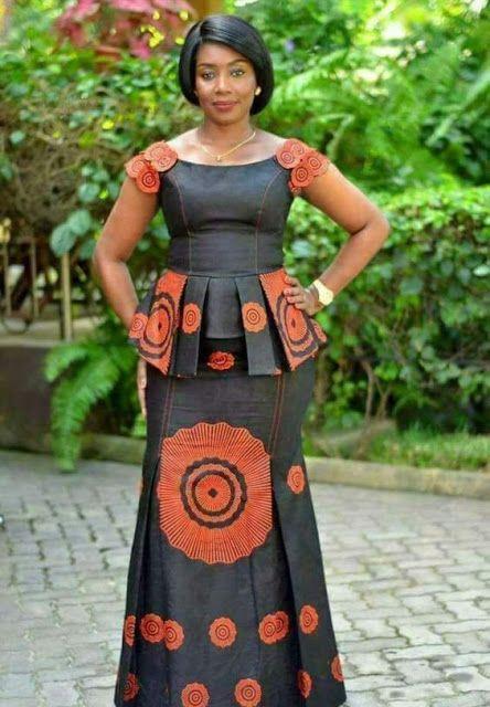 10 Latest Ankara Skirt and Blouse Styles 2019