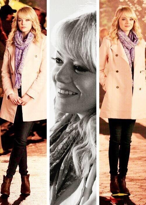 Gwen Stacy played by Emma Stone in The Amazing Spider-Man 2